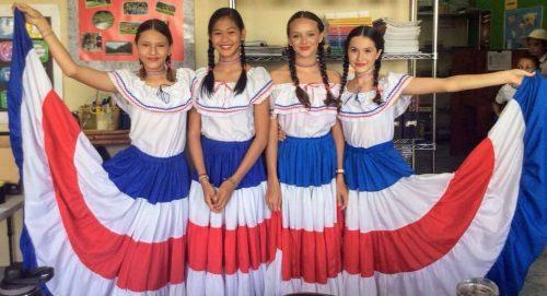 High school in Costa Rica dresses