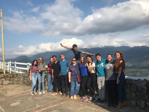 High school in Costa Rica trip